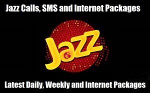 Jazz Call, SMS & Internet Packages (Daily, Weekly & Monthly)