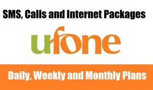 Ufone Calls, SMS & Internet Packages (Daily, Weekly & Monthly)