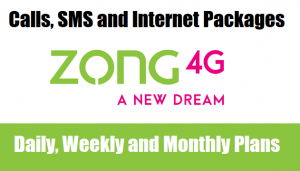Zong Calls, SMS & Internet Packages (Daily, Weekly & Monthly)